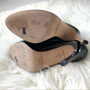 LK Bennett Shoes - LK Bennett Black Patent Leather Sledge Heels 37